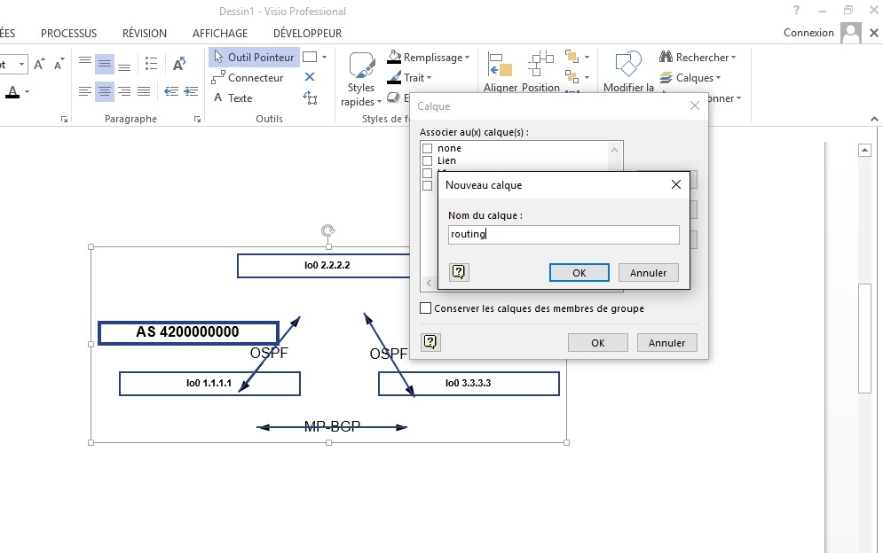 Network Diagram and Visio Layers (1/2) - Networking